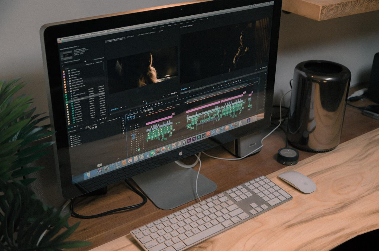 video editing on computer
